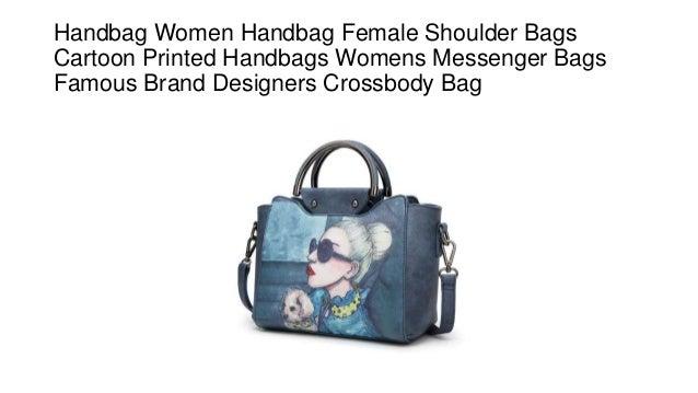 696a740b41ae Handbag Women Handbag Female Shoulder Bags Cartoon Printed Handbags Womens  Messenger Bags Famous Brand Designers Crossbody ...