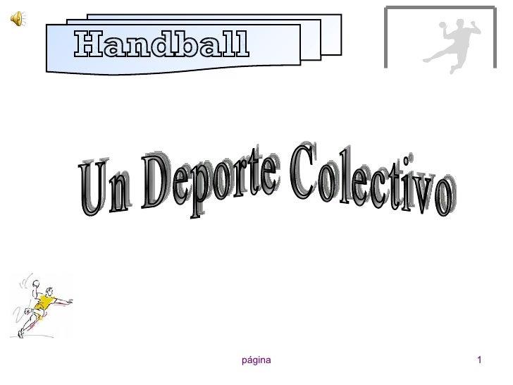 Handball Un Deporte Colectivo