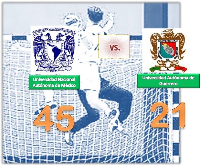 Handball   unam vs autonoma de guerrero