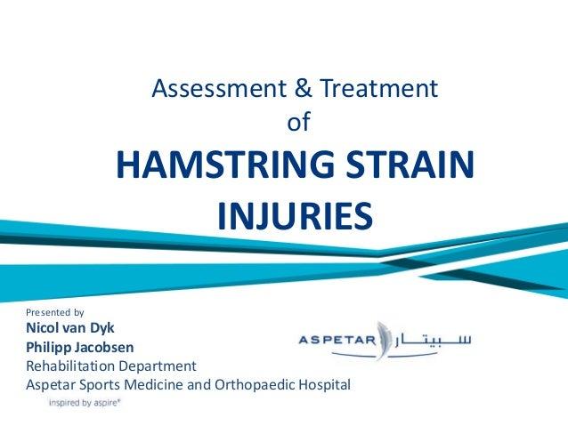 Hamstring Strain Injuries Aspetar Experience Nicol Van Dyk