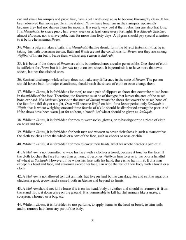 how to perform hajj / Umrah