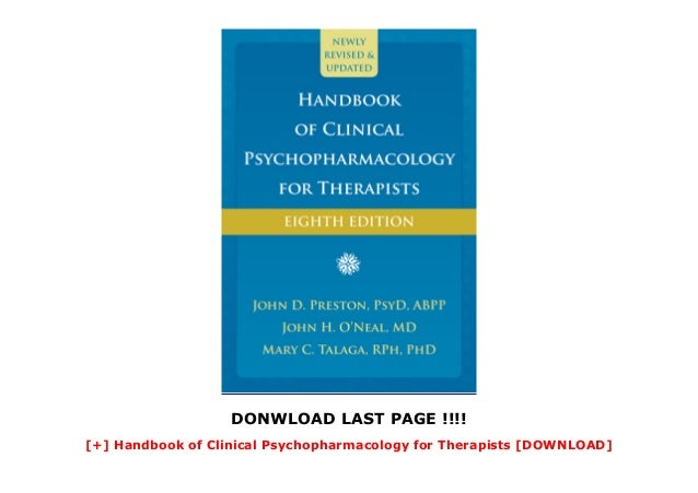 Handbook of Clinical Psychopharmacology for Therapists ...
