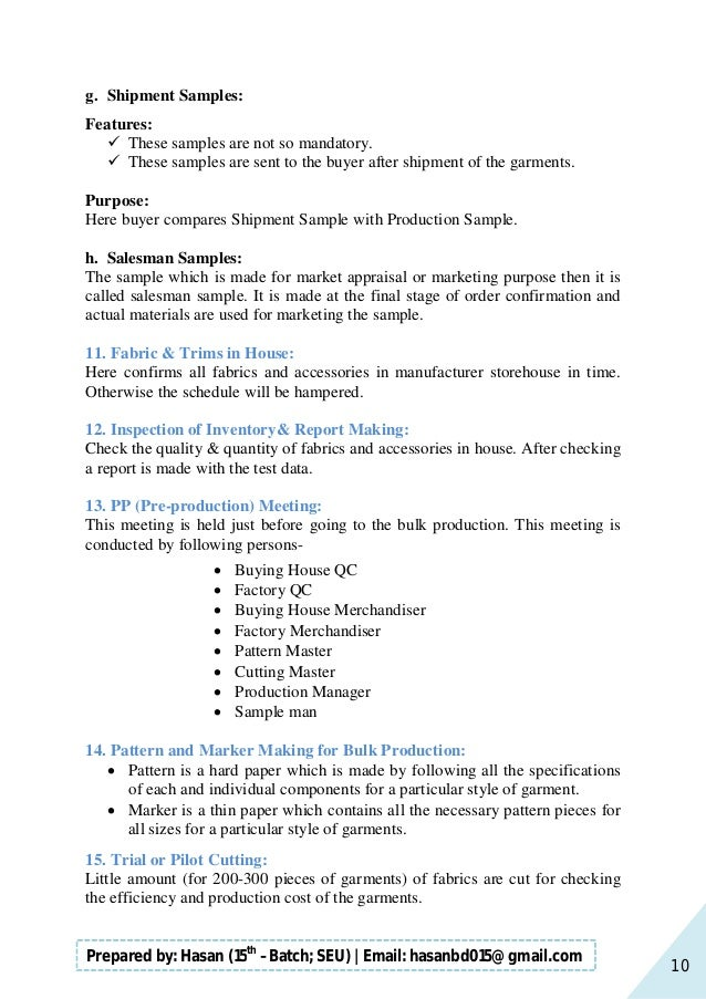 10 Prepared by: Hasan (15th –Batch; SEU)   Email: hasanbd015@gmail.com g. Shipment Samples: Features:  These samples are ...