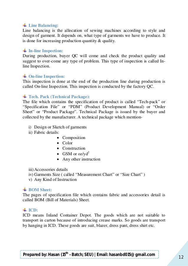 12 Prepared by: Hasan (15th –Batch; SEU)   Email: hasanbd015@gmail.com Line Balancing: Line balancing is the allocation of...