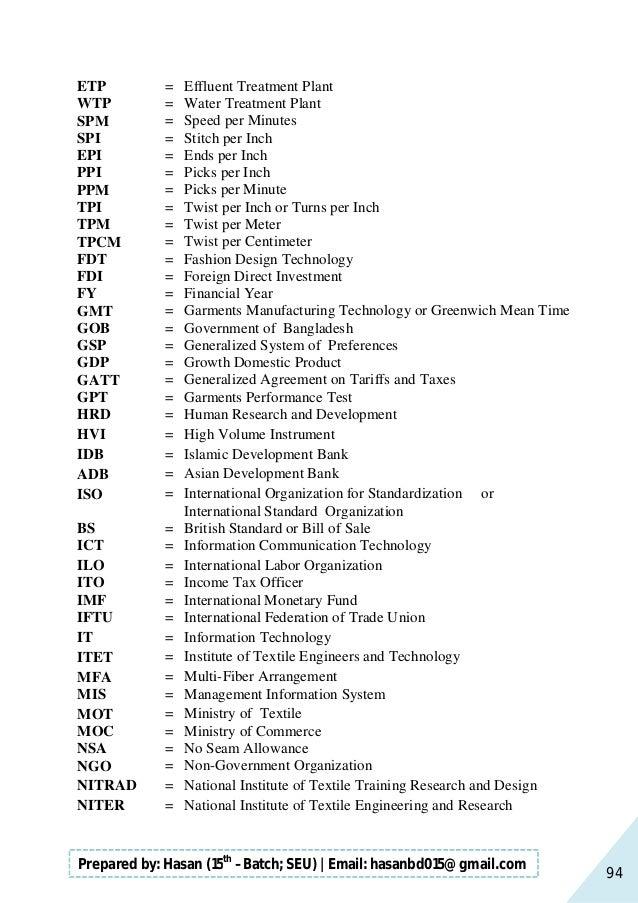 Handbook of garments manufacturing technology