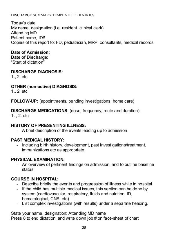 death summary template - handbook2010
