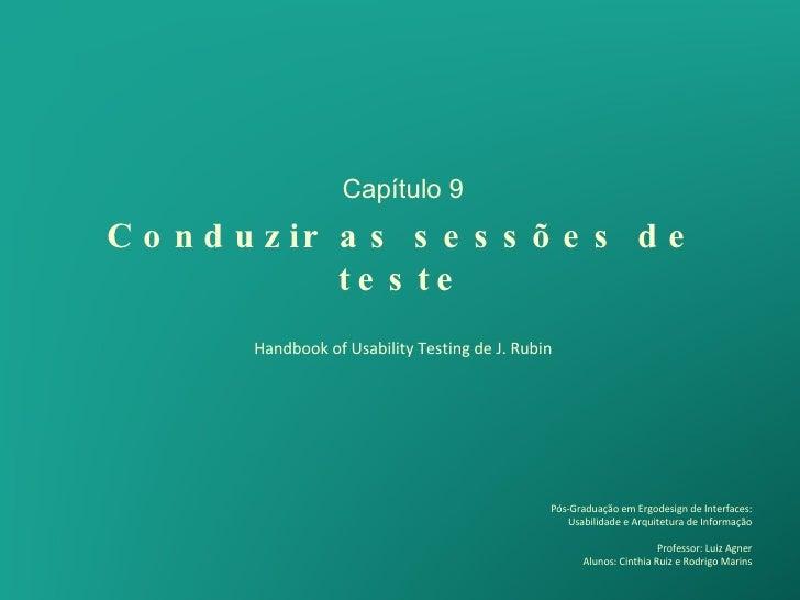 Handbook Usability Testing - Capitulo 9