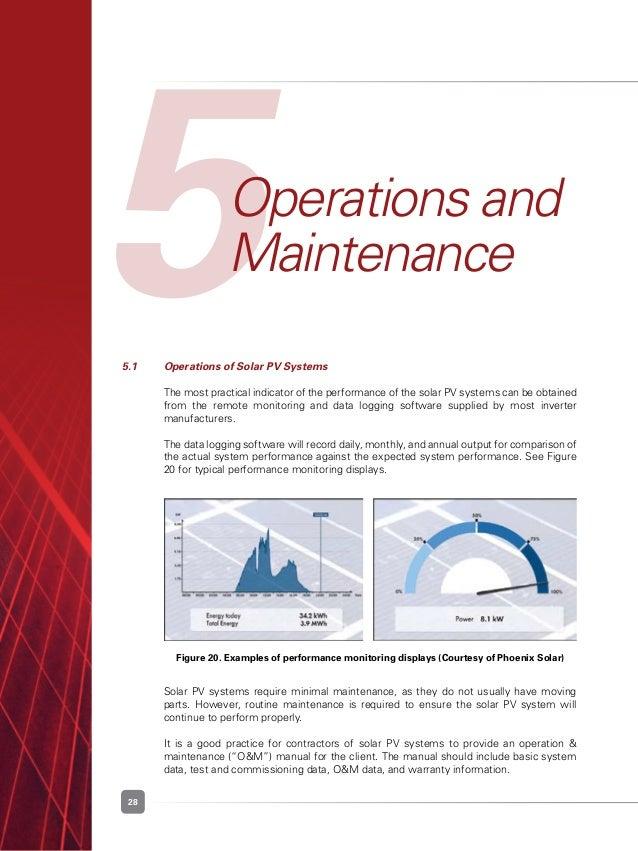 solar pv operation and maintenance manual