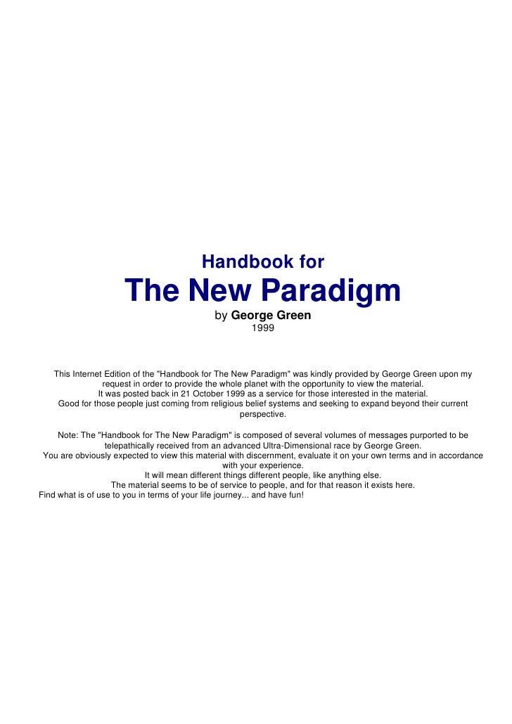 Handbook New Paradigm