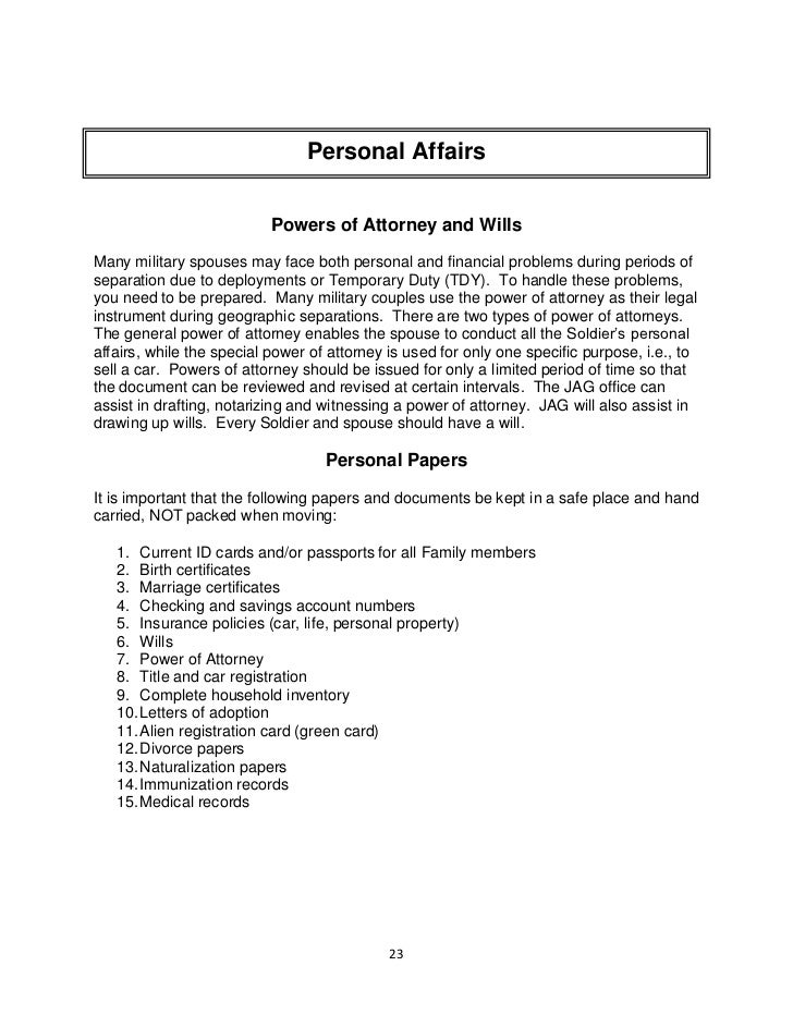 handbook for a new military spouse