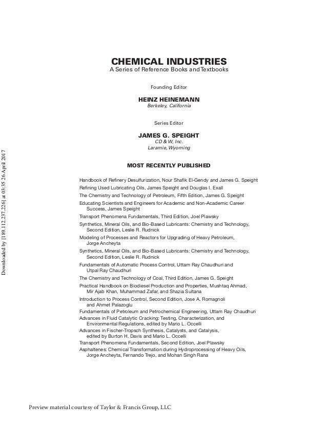 Handbook of refinery desulfurization Slide 2