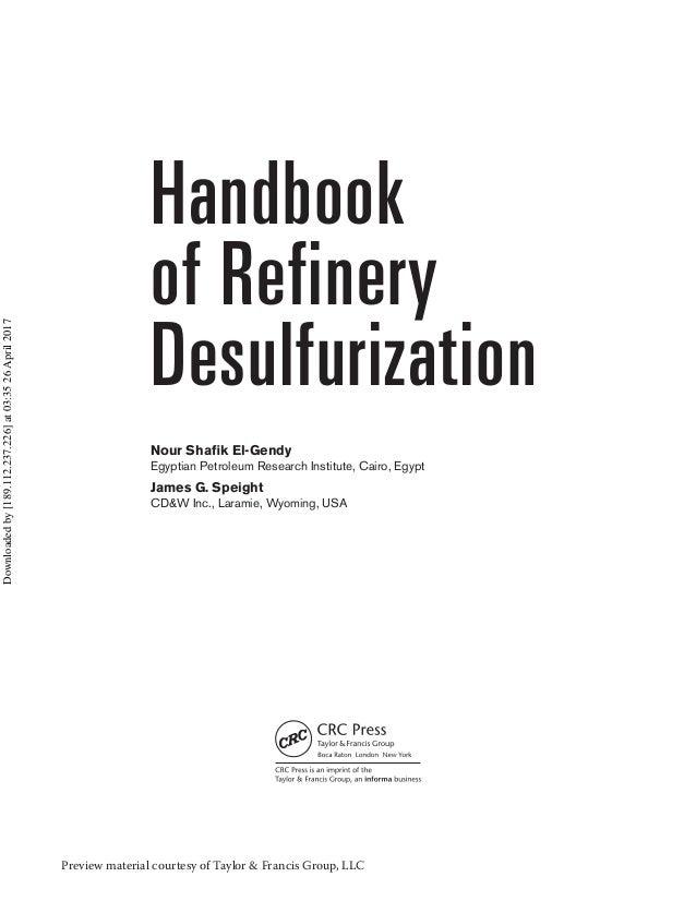 Handbook of refinery desulfurization Slide 3