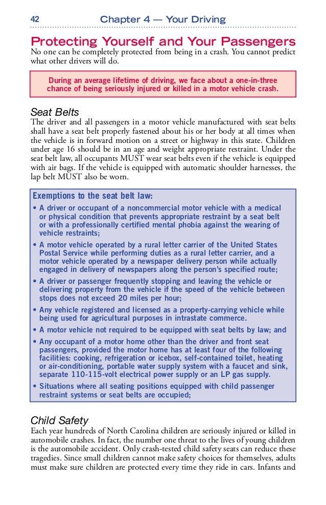 north carolina drivers handbook chapter 4