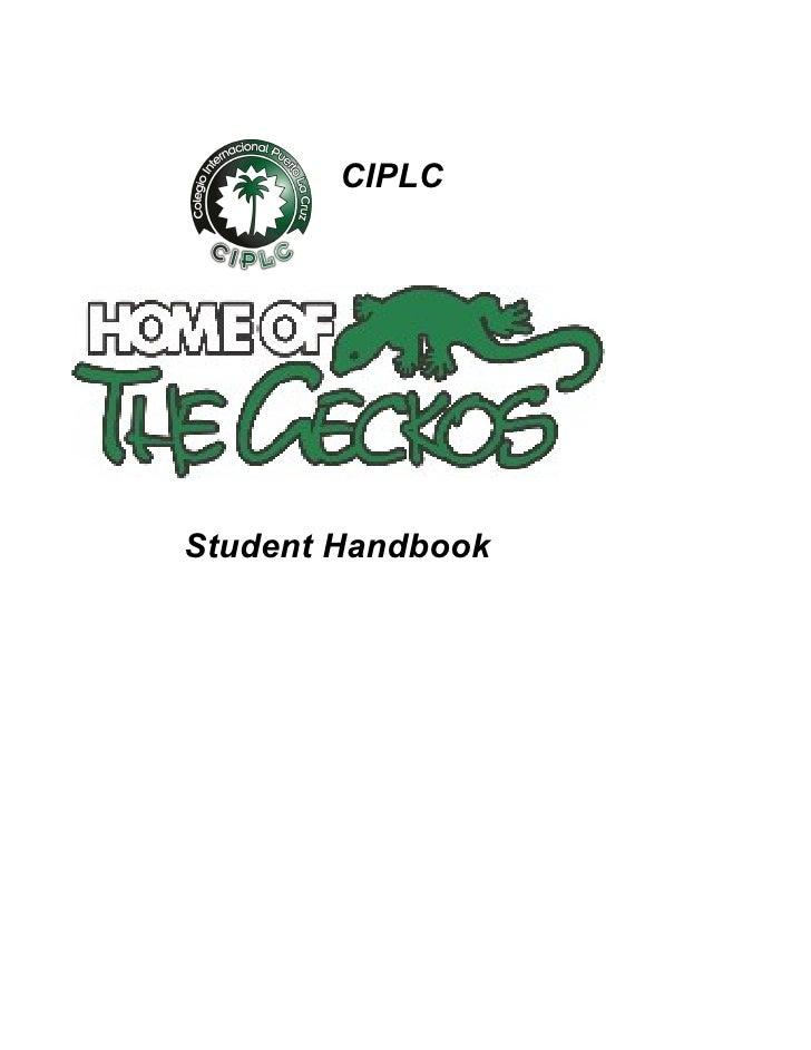 CIPLCStudent Handbook