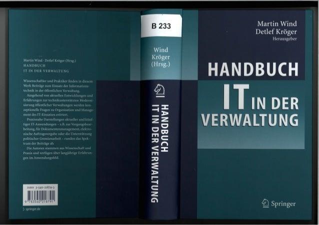 [DE] Handbuch IT in der Verwaltung | Dokumentenmanagement | Ulrich Kampffmeyer | PROJECT CONSULT | 2006