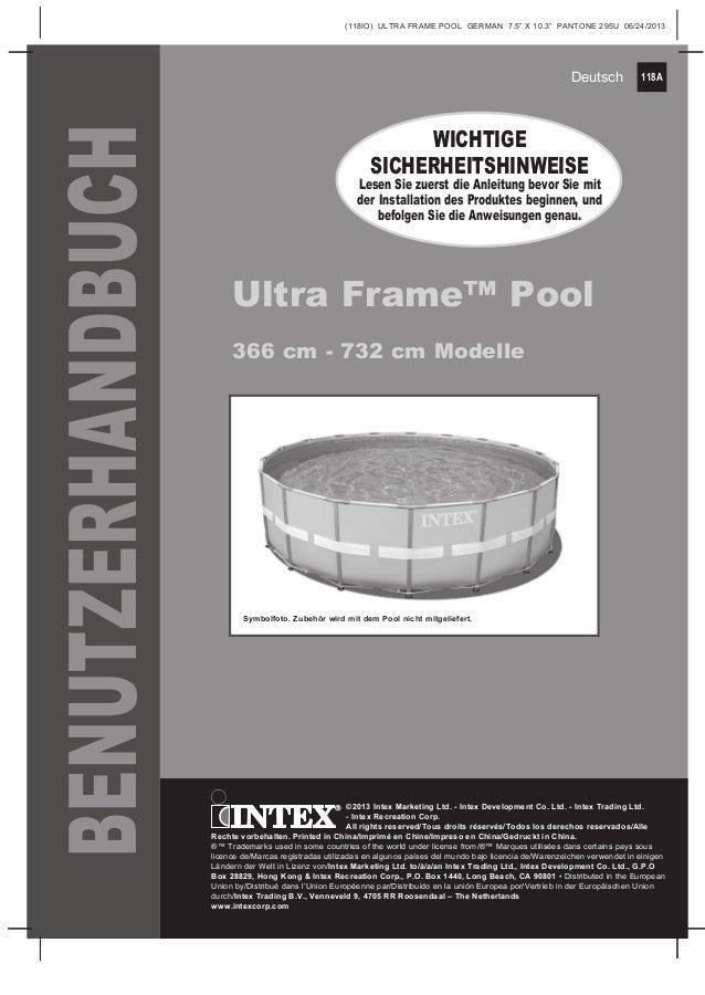 Handbuch ultra frame pool Intex Pool Shop