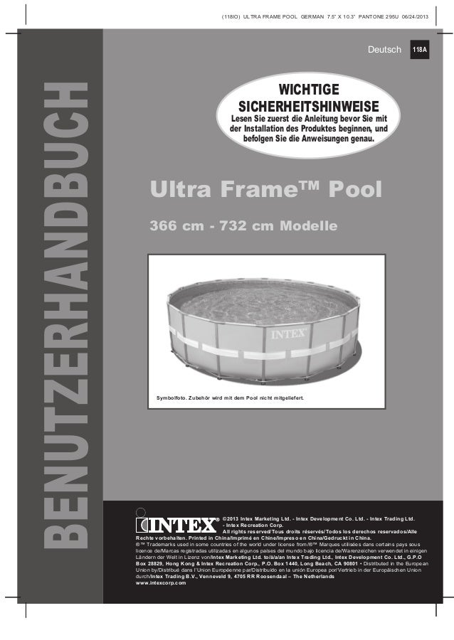 Tolle intex ultra rahmen poolfolie f r 16 x 48 galerie for Obi holzpool