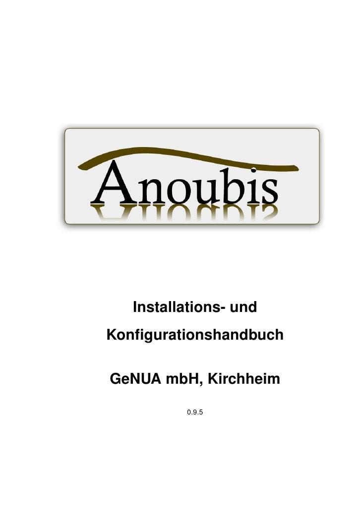 Installations- undKonfigurationshandbuchGeNUA mbH, Kirchheim          0.9.5