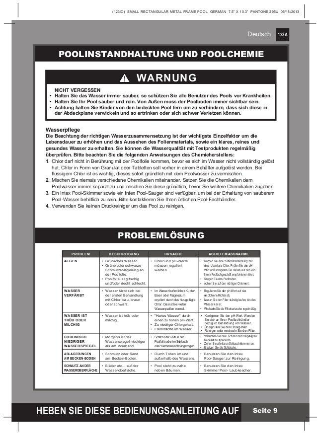 Handbuch frame poolsetfamily260x160x65cm28271 - Intex Pool Shop