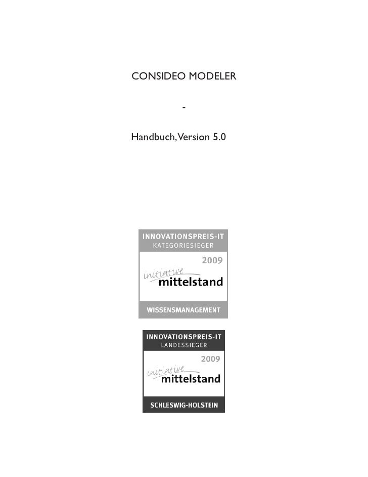 CONSIDEO MODELER            -  Handbuch,Version 5.0