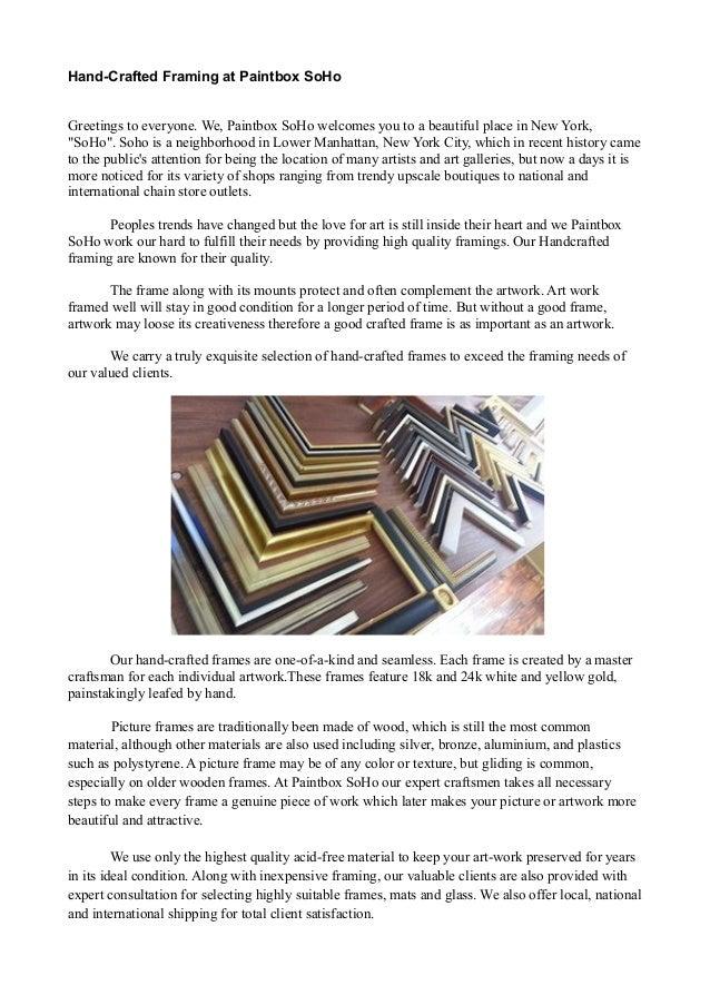 Quality Art framework Paintboxsoho
