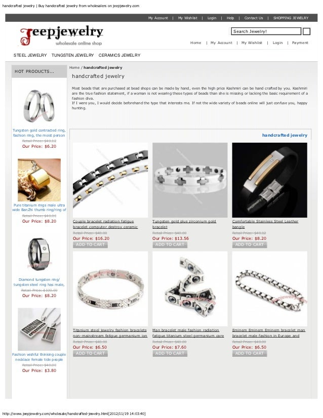 handcrafted jewelry | Buy handcrafted jewelry from wholesalers on jeepjewelry.com                                         ...