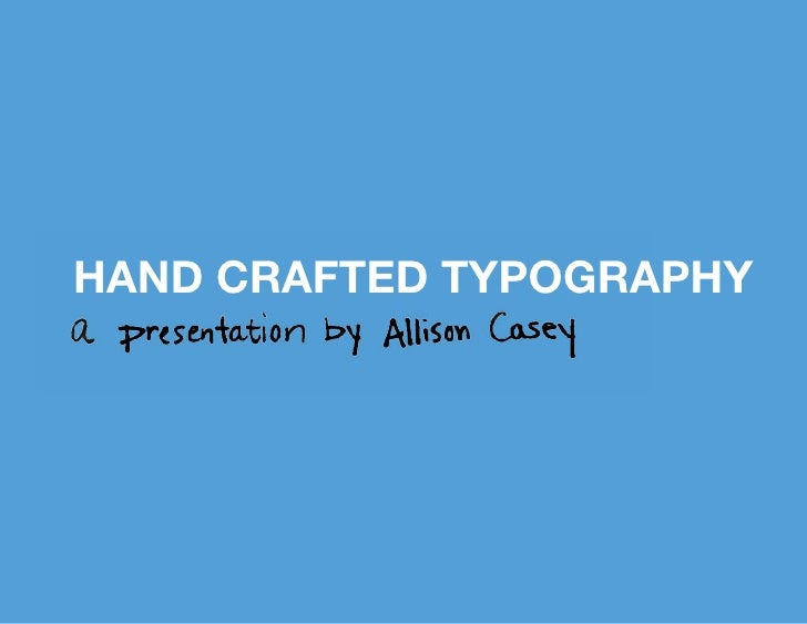 hand crafted typography