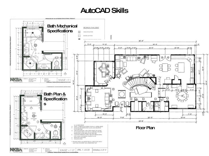 Elevation Floor Plan Autocad : Hand drafting auto cad skills
