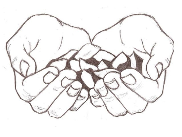 Line Drawing Holding Hands : Hand drawing