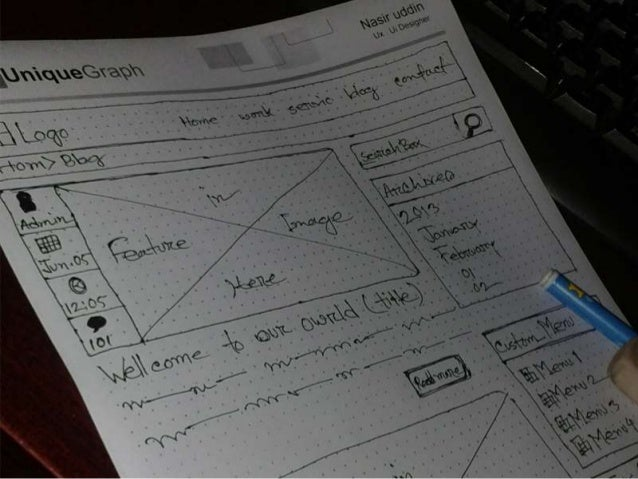 how to draw a website wireframe