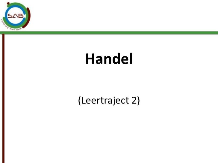 Handel<br />(Leertraject 2)<br />