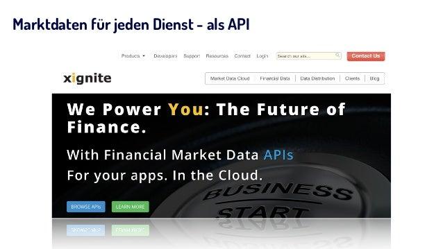 Marktdaten für jeden Dienst - als API
