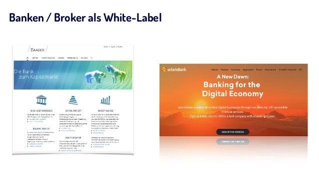 Banken / Broker als White-Label