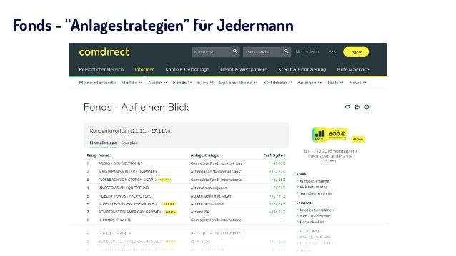 """Fonds - """"Anlagestrategien"""" für Jedermann"""