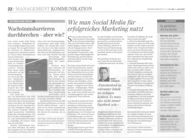 Word of Mouth Artikel Handelszeitung