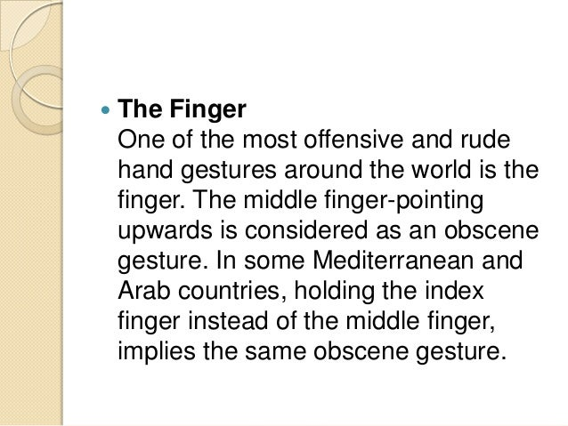 Is Finger By What Meant Middle trail exemplar