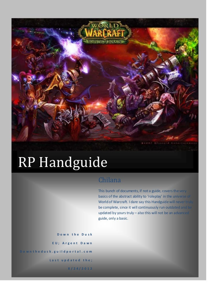 RP Handguide                               Chilana                               This bunch of documents, if not a guide, ...