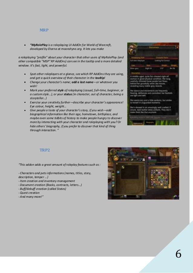 Roleplaying Handguide for WoW
