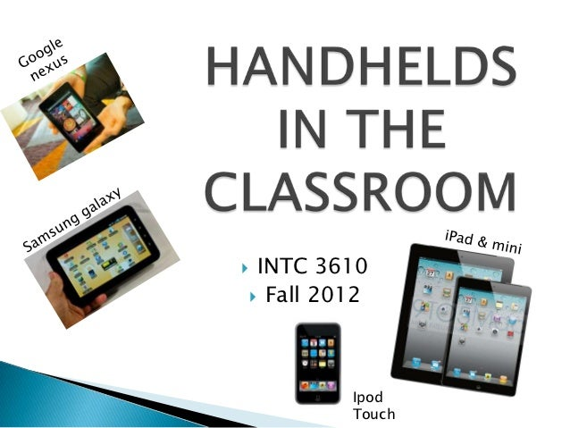 INTC 3610 Fall 2012         Ipod         Touch