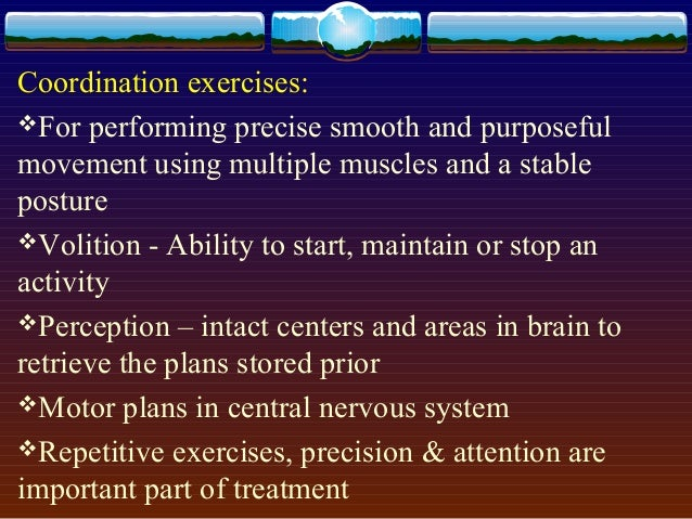 Mobilization exercises: Mobilization is passive movement in such a manner or speed that the patient can stop the movement...