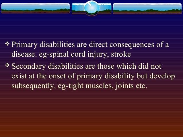 Result of Decreased Activity due to handicap