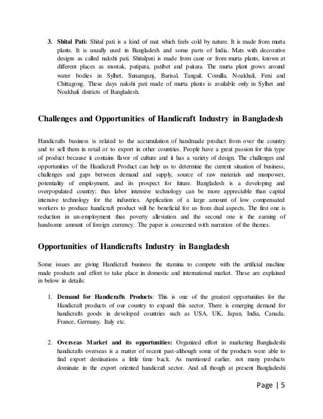 Handicraft Industry In Bangladesh