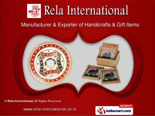 Manufacturer & Exporter of Handicrafts & Gift Items