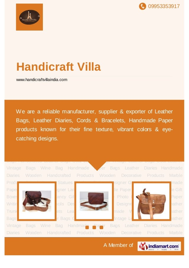 09953353917A Member ofHandicraft Villawww.handicraftvillaindia.comLeather Bags Handcrafted Leather Bags Goat Leather Bags ...