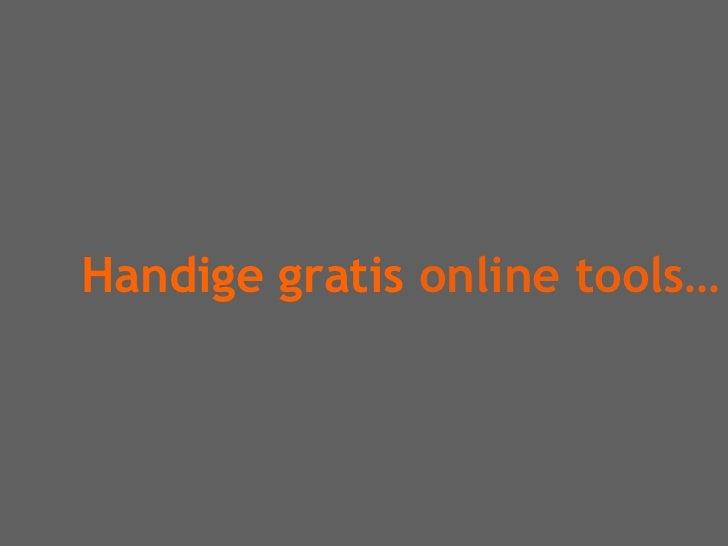 Handige gratis online tools…