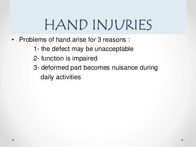 Hand injuries  Slide 3