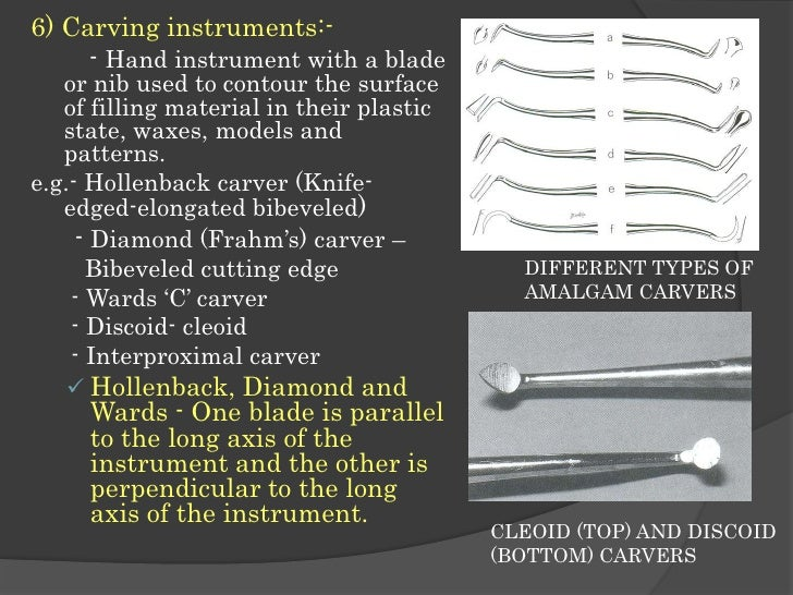 Hand Instruments In Operative Dentistry