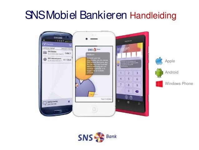 SNSMobiel Bankieren Handleiding Apple Android Windows Phone