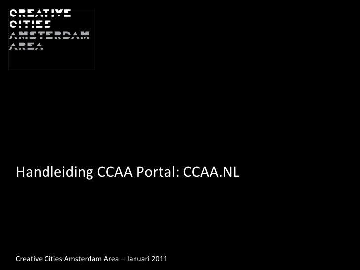Handleiding CCAA portal