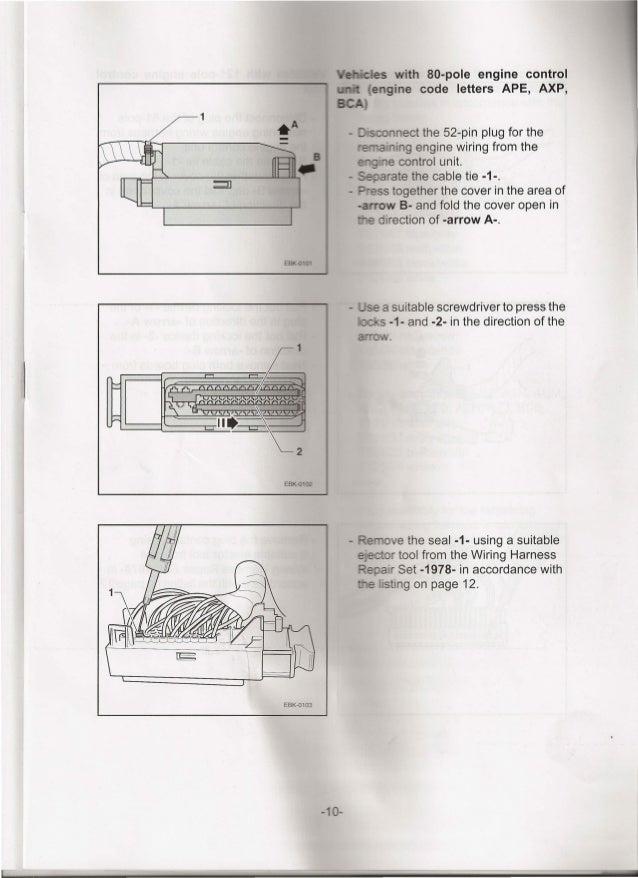 installation instructions for retrofitting a cruise control regulator 9 10